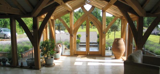 Rosebarn ,glazed extension