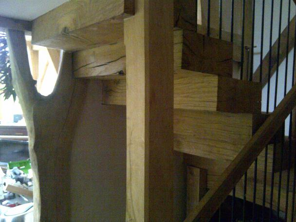 Oak Stair Case.  Image