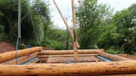 Errecting A Log Cabin